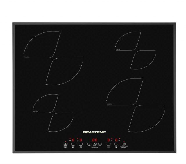 Cooktop 4 bocas de indução Brastemp com timer touch