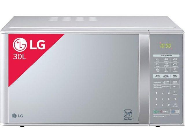 Micro-ondas LG EasyClean MH7053R Grill 30 litros