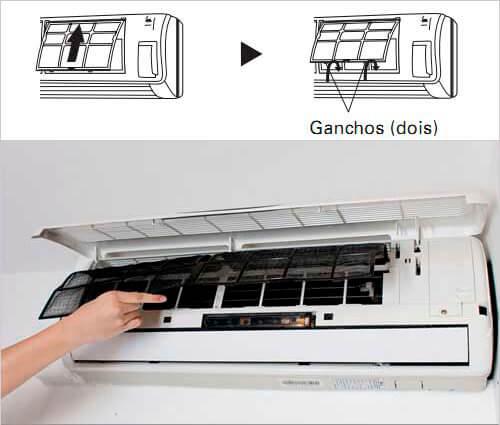 como limpar ar condicionado split