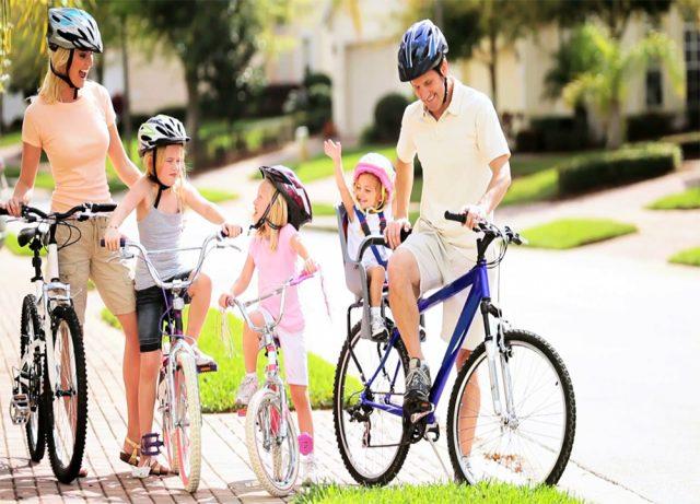 Instruções para o uso seguro de bicicletas infantis.