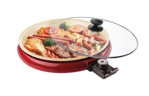 Grill Eletrico Cadence Ceramic Pan Vermelho GRL350