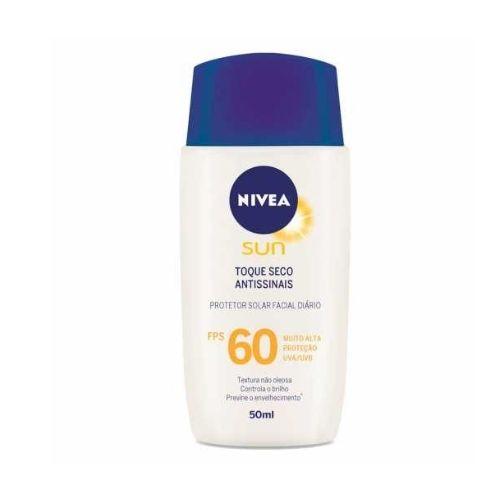 Nivea Protetor Solar Facial Toque Seco Antissinais FPS 60